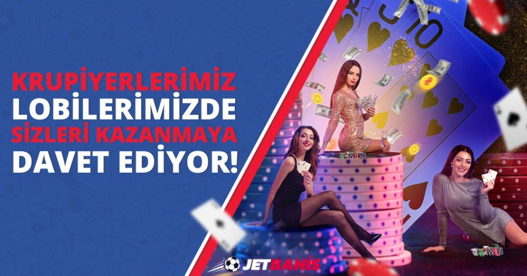 Canlı Casino'da Türkçe Konuşan Krupiyerler Jetbahis'te!
